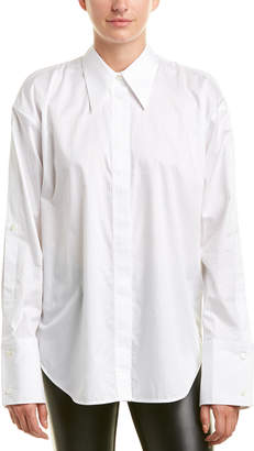 Helmut Lang Button-Up Sleeve Blouse