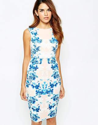 Lipsy Body-Conscious Dress With Puff Print Side Detail