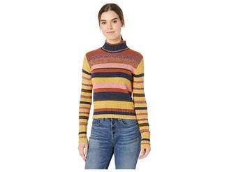 Frye Long Sleeve Cropped Mock Neck Sweater