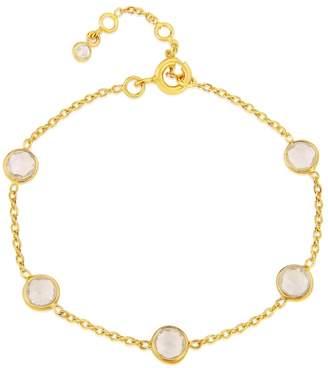 Auree Jewellery - Antibes White Topaz and Gold Vermeil Bracelet