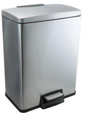 Better Homes & Gardens Better Homes & Garden 10.5 Gallon Rectangle Stainless Steel Waste Can