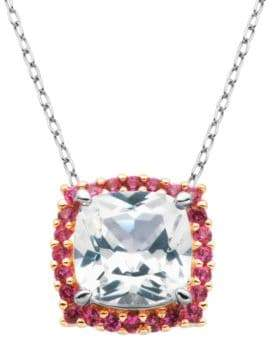 Lord & Taylor White Sapphire Pendant Necklace