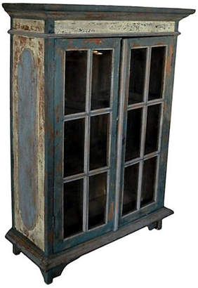 One Kings Lane Vintage Antique Goan Hand-Carved Cabinet - FEA Home
