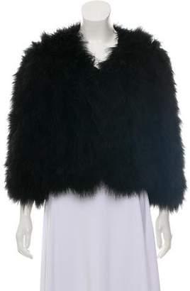 Jocelyn Short Feather Coat