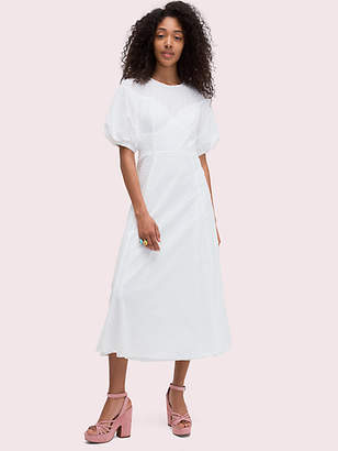 Kate Spade Puff Sleeve Midi Dress, Swan White - Size 00