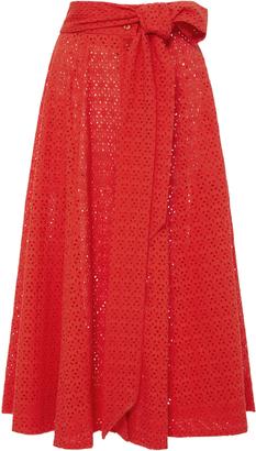 Lisa Marie Fernandez High Waist Eyelet Beach Skirt $575 thestylecure.com