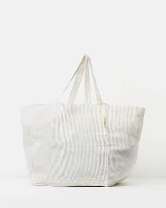 The Beach People Stripe Linen Tote Bag