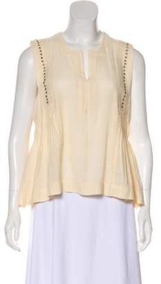Etoile Isabel Marant Pleated Sleeveless Blouse