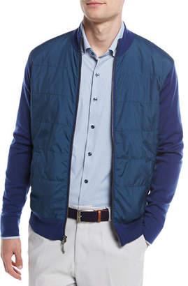 Peter Millar Patterson Full-Zip Hybrid Melange Cardigan