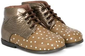 Pépé star pattern lace-up boots