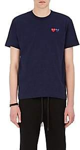 Comme des Garcons Men's Heart-Patch Cotton T-Shirt - Navy