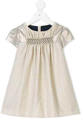 La Stupenderia polka dot contrast sleeve dress