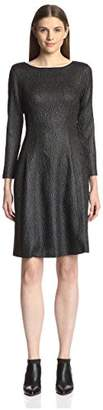 Natori Women's Textured Fit & Flare Dress