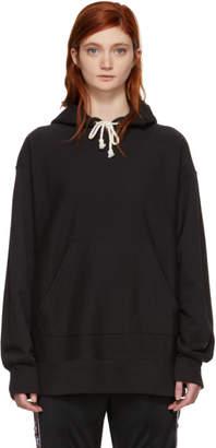 Champion Reverse Weave Black Oversized Small Logo Hoodie