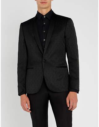 The Kooples Paisley-pattern wool-blend jacket