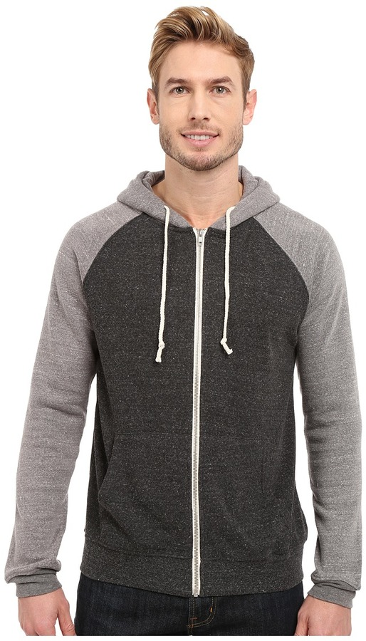 Threads 4 Thought - Malibu Raglan Hoodie Men's Sweatshirt