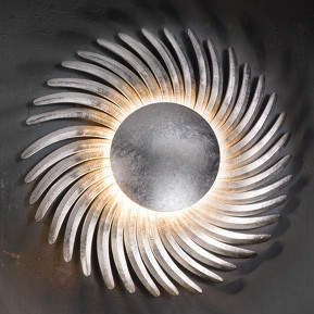 Mit Blattsilber belegte LED-Wandlampe Sh...
