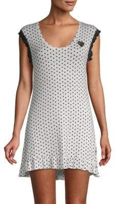Betsey Johnson Heart Cut-Out Sleepshirt