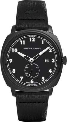 Larsson & Jennings Editor 38mm Watch Black & Black Sandblasted