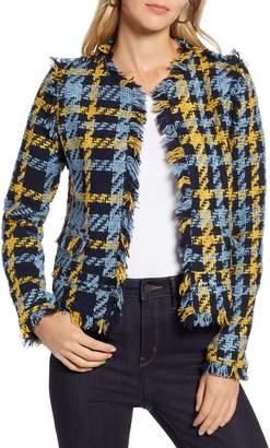 Halogen Plaid Tweed Jacket