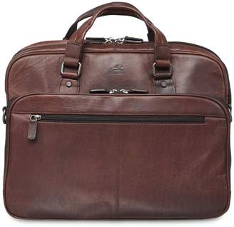 Buffalo David Bitton Mancini Expandable Double-Compartment Leather Briefcase