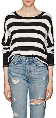 NSF Women's Presley Distressed Striped Cotton Sweater Size S
