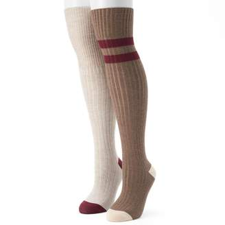 UNIONBAY Women's 2-pk. Varsity Striped Over-the-Knee Socks