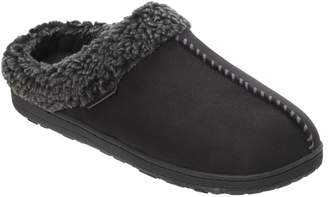 Dearfoams Men's Microsuede Slipper Clogs with Whipstitch