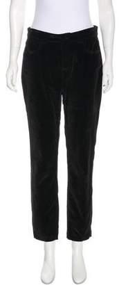 Dolce & Gabbana Velvet High-Rise Pants