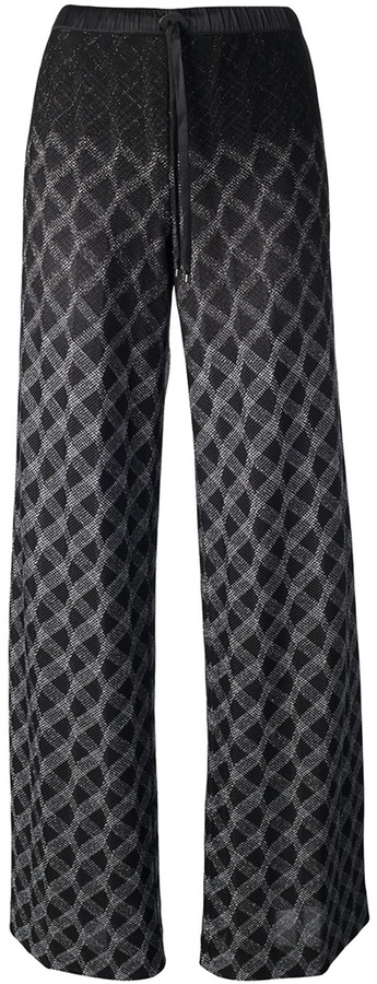 Missoni knitted wide leg trouser