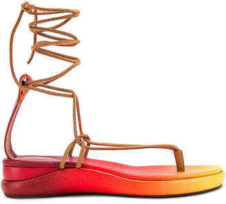 Chloé Tie Sandals in Yellow & Red | FWRD