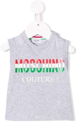 Moschino Kids Italia Couture logo print tank top