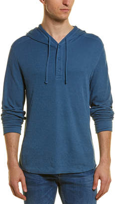 Vince Double Layer Henley Hoodie