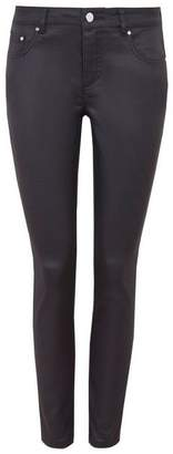 Wallis Petite Grey Coated Trouser