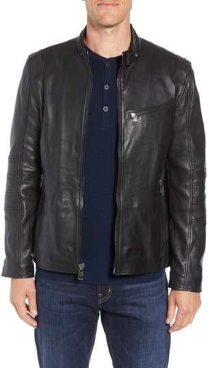 Andrew Marc Weston Quilted Leather Moto Jacket