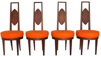 One Kings Lane Vintage Mid-Century Modern Dining Chairs - Set of 4