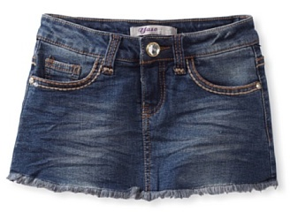 Vigoss Girls 7-16 Denim Mini Skooter Skirt