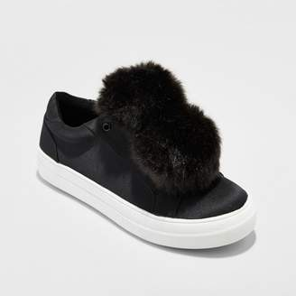 Mossimo Supply Co. Women's Abbie Slip On Sneakers with Faux Fur Pompom - Mossimo Supply Co. $27.99 thestylecure.com