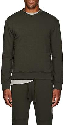 Barneys New York Men's Brushed Cotton-Blend Fleece Sweatshirt