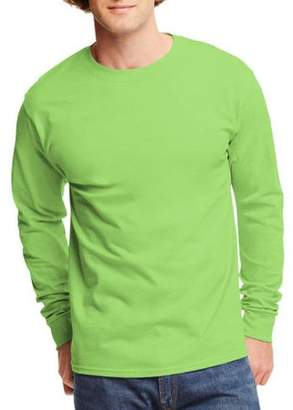 Hanes Big Men's Tagless Long Sleeve T-shirt