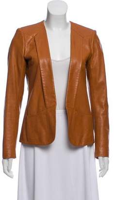 Theory Open Front Leather Jacket