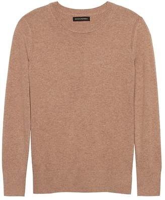 Banana Republic Petite Italian Merino-Blend Crew-Neck Sweater