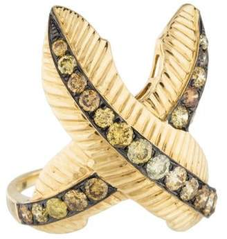 Ring 18K Diamond Feather