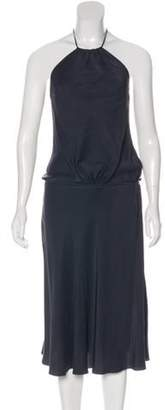 Chloé Silk Halter Dress Grey Chloé Silk Halter Dress