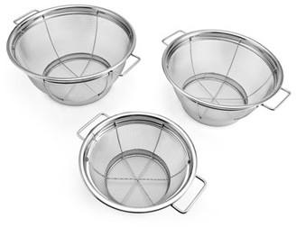 Farberware Set of 3 Stainless Steel Sieves, Strainers