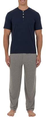 Fruit of the Loom Men's Jersey knit Top and Pant 2 piece Set