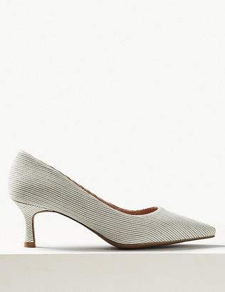 Marks and Spencer Wide Fit Kitten Heel Court Shoes