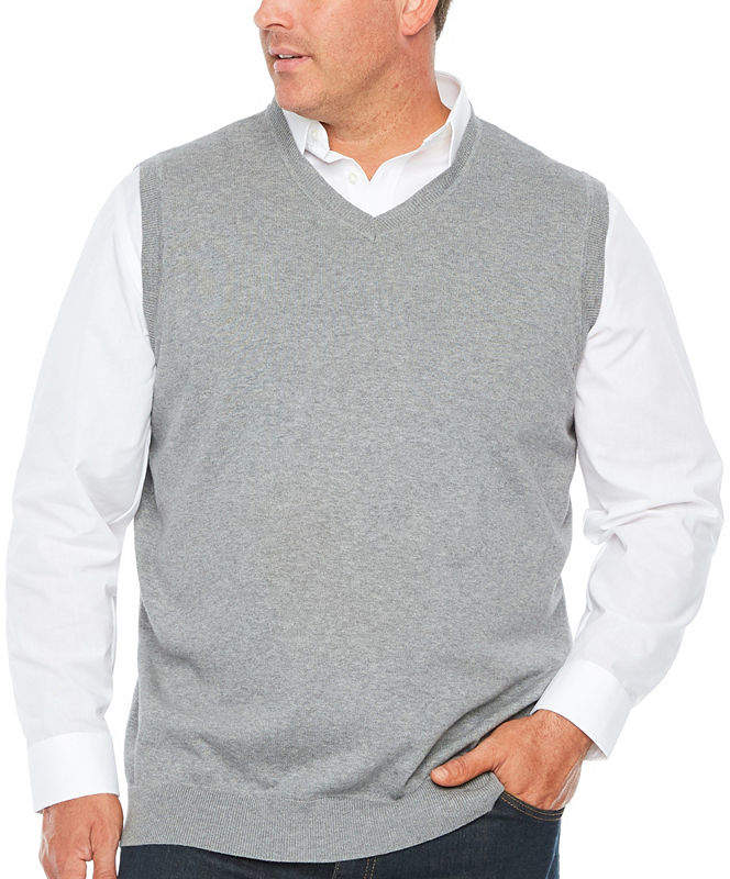 THE FOUNDRY SUPPLY CO. The Foundry Big & Tall Supply Co. V Neck Sweater Vest Big and Tall