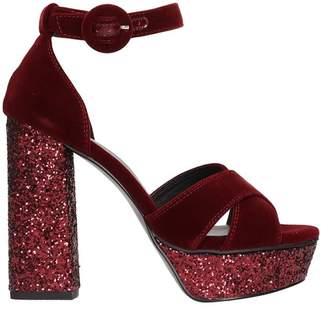 Bibi Lou Burgundy Velvet Blend Sandals