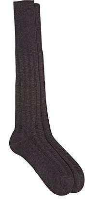 Barneys New York Men's Rib-Knit Cotton Knee Socks